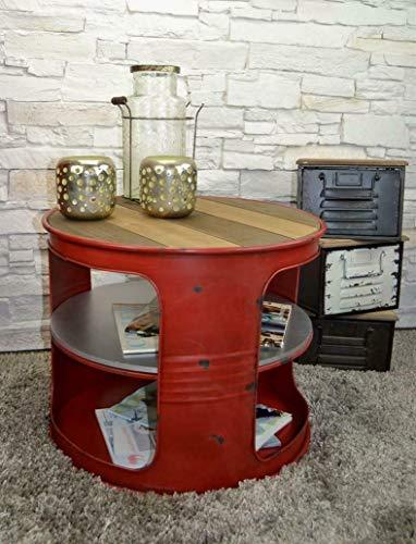 Livitat Couchtisch Beistelltisch Metall Ölfass Vintage Industrie Look LOFT Shabby LV5022