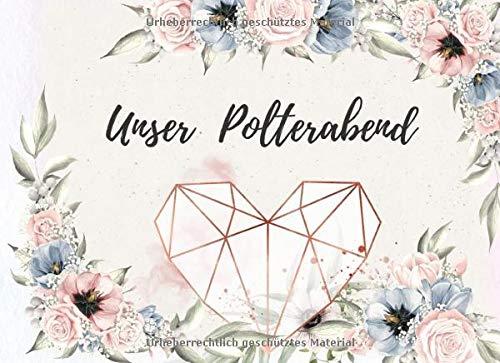 Unser Polterabend: das perfekte fuer deine Glückwünsche | 70 Seiten Platz | Blumen design mit rosegold