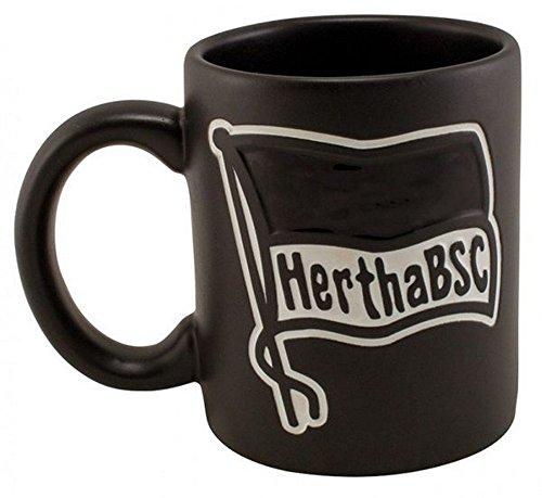Hertha BSC Tasse Schwarz mit Prägung