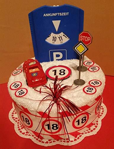 * Handtuchtorte * 18.Geburtstag * Führerschein * Auto