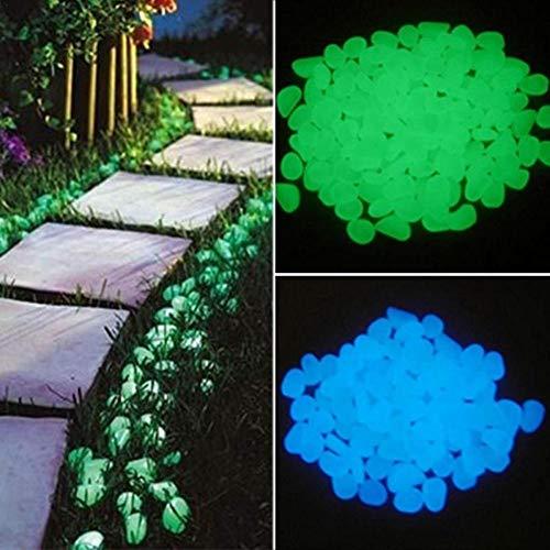 PER 220 Stück leuchtenden Stein im Dunkeln leuchten Kiesel dekorative Steine für Garten Hof Gehweg Bonsai Aquarium