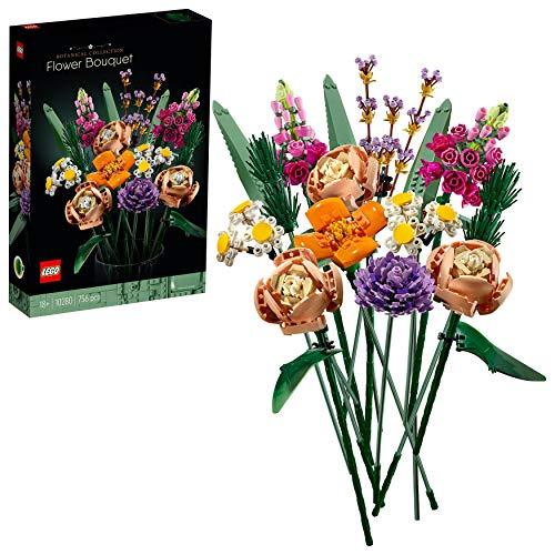LEGO 10280 Blumenstrauß, künstliche Blumen, Botanik Kollektion, Set für Erwachsene