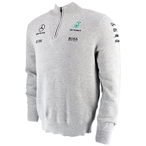 Mercedes AMG F1 Replica Team Puma Half Zip Sweatshirt Grau M