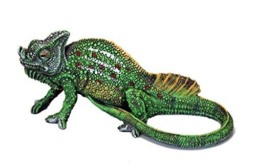 Fachhandel Plus Dekofigur Chamäleon, Teichdekoration, Gartenfigur, Reptil, Echse, Chamaeleon