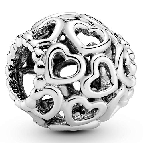 Pandora Moments All Over-Herzen Charm Sterling Silber 790964
