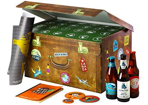 Adventskalender mit Bier | World Wide Beers | 24 Flaschen internationale Biere aus aller Welt als Geschenkbox (24x0,33l) | Geschenkidee für Männer | Probierpaket | Geburtstag | Weihnachten
