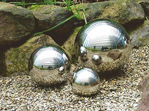 Spetebo Deko-Kugel aus hochwertigem Edelstahl - 4er Set - Edelstahlkugeln