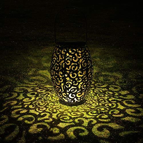 Solarlaterne für außen, Tomshine Dekorative Solarlampe Garten Laterne, IP44 Wasserdicht LED Solar Laterne Dekolampe für Draussen