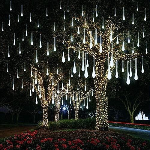 Kaltweiss Hängend Eiszapfen Lichterkette EEIEER Wasserdichte mini LED Tubes Lichter Weihnachtsdeko Außen Innen 8 Stück, 30 cm