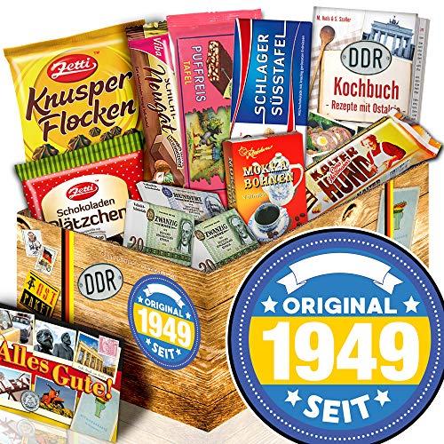 Original seit 1949 / Präsentkorb 70. Geburtstag / Nostalgieset Schokolade
