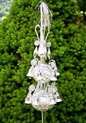Lauschaer Glaskunst-Christbaumspitzen Große Christbaumspitze Old Lauscha (Silber)
