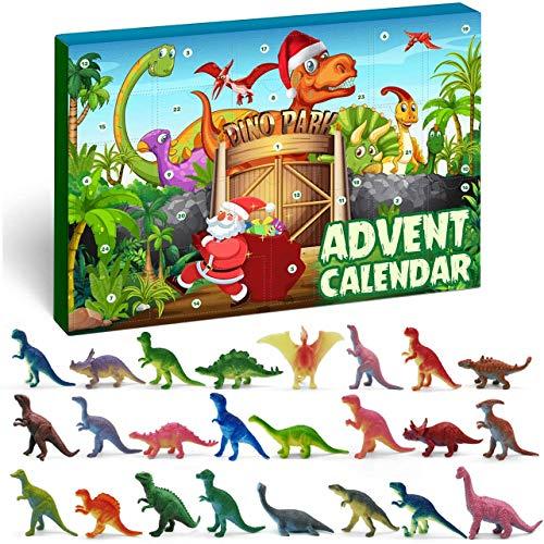 iZoeL Adventskalender Dino Dinosaurier Jungen Kinder 24 Überraschung Weihnachtskalender Geschenk für Kinder ab 3-12 Jahre