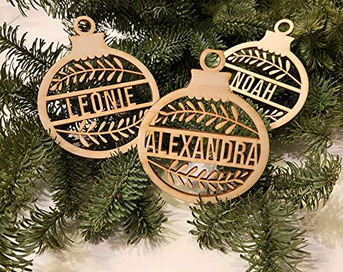 Ornament Christbaumkugel Deko Anhänger für Weihnachten personalisiert mit Ihrem Namen oder Wunschtext