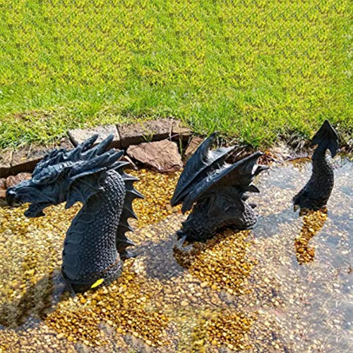 Gartendeko Drache Harz Gotisch Gartenstatuen,Drache Tierfiguren Tierstatuen Gartenfiguren,Gartenstatuen Statue Deko,Glücksdrache Drache Garten Figur Fantasy ,Ornamente für Terrasse,Rasen (B)