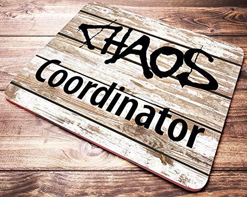 Lustige Mauspad für Arbeit Chaos Koordinator Männer Zitat Mousepad Bürobedarf für Männer Mitarbeiter Geschenke