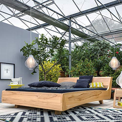Dormiente Massivholzbett Balena - 200x200 cm - Nussbaum