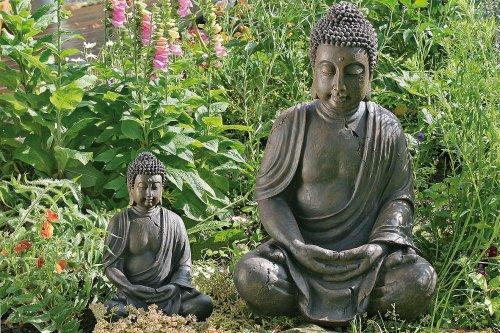 BUDDHA SKULPTUR BUDDHAFIGUR 70 CM FENG SHUI GARTENDEKO
