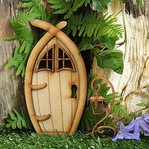 Beliebteste Wichteltür, Feentür, Mäusetür, Elfentür aus Holz Zum öffnen mit Lustigem Wichtel,Spielhausdekorationstür Basteltür 3D-Deko zur Selbstmontage Elfentür Wichteltür Set (B)