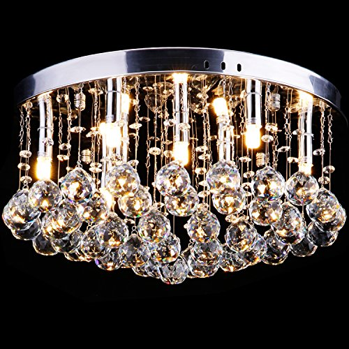 CCLIFE Modern Kristall Kronleuchter LED G9 GU10 Deckenleuchte Pendelleuchte Crystal Lüster, Farbe:G9