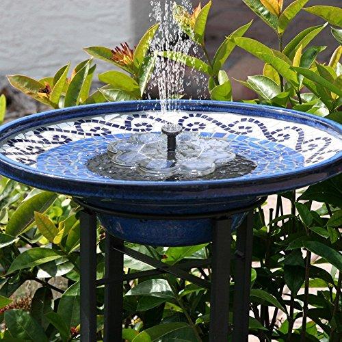 TekHome 2019 Neu Solar Springbrunnen, 1.6W Vogelbad Brunnen Garten Deko,Gartendeko Solar Fontäne, Gartenbrunnen Pumpe Solarbetrieben Groß für Außen Miniteich, Springbrunnen Wasserspiel Solar Teich.