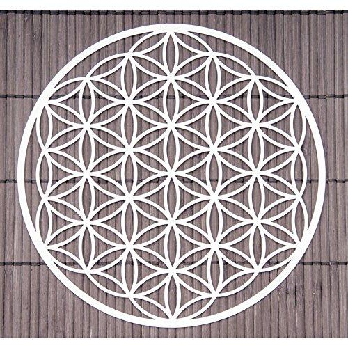 Blume des Lebens Wand-Deko ø 18 cm Edelstahl | Wand-Schmuck Lebensblume Flower of Life Spirituelles Energie Symbol | Feng Shui Esoterik Geschenke Ideen