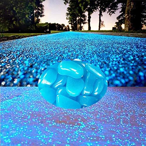 StillCool Leuchtsteine 100er Bunt Leuchtender Floureszierende Pebble Steine für Aquarium Garten Flur Kinderzimmer Dekoration
