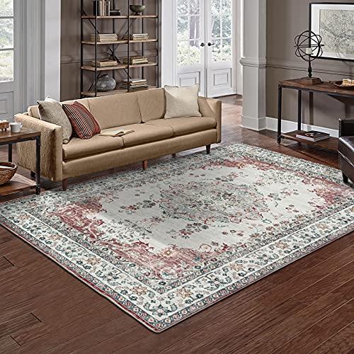 TALETA Mila Teppich orientalisch modern Wohnzimmer Grau Rot Größe: 160 x 230 cm