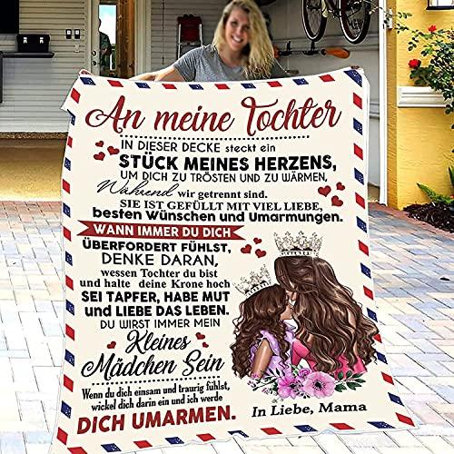 Kuscheldecke Flauschige Personalisierte Decke Geschenke,Decke an Meine Tochter Super Weiche,Luftpost Decke Positiv Ermutigen Sie Ihre Tochter zur Liebe Geeignet Für Sofa Reisen