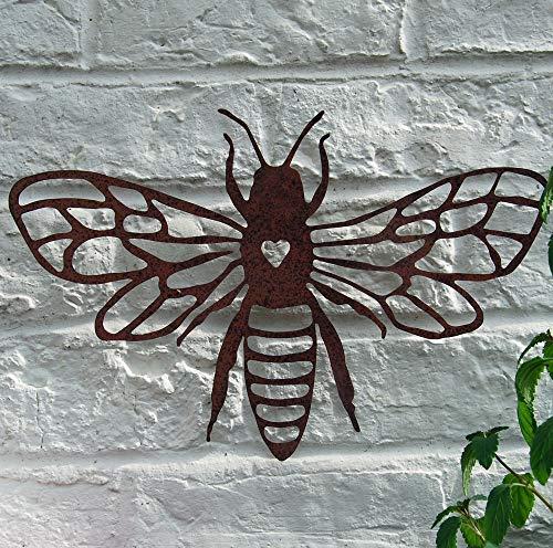 Bluebell Yard Garten-Wandschild Rost Biene