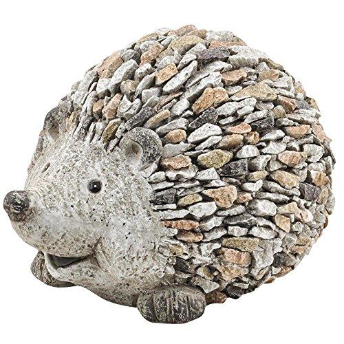 Gartendekoration Igel in Steinoptik aus Polyresin für Den Garten