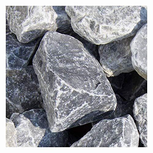 zierkiesundsplitt Ice Blue Gabionensteine Bruchsteine 250kg Big Bag 60-100mm (40-60)