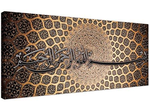 Bismilliah/Leinwandmit moderner, islamischer, arabischer Kalligraphie von Wallfillers, 120cm breit, 1276