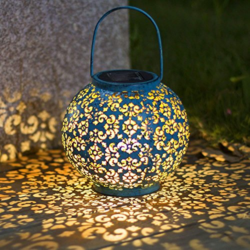 Solarlaterne für außen,TakemeEuro Blau Solarlampe für Außen Gartendeko Solar Gartenlaterne